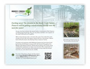 Reedy Creek stream project