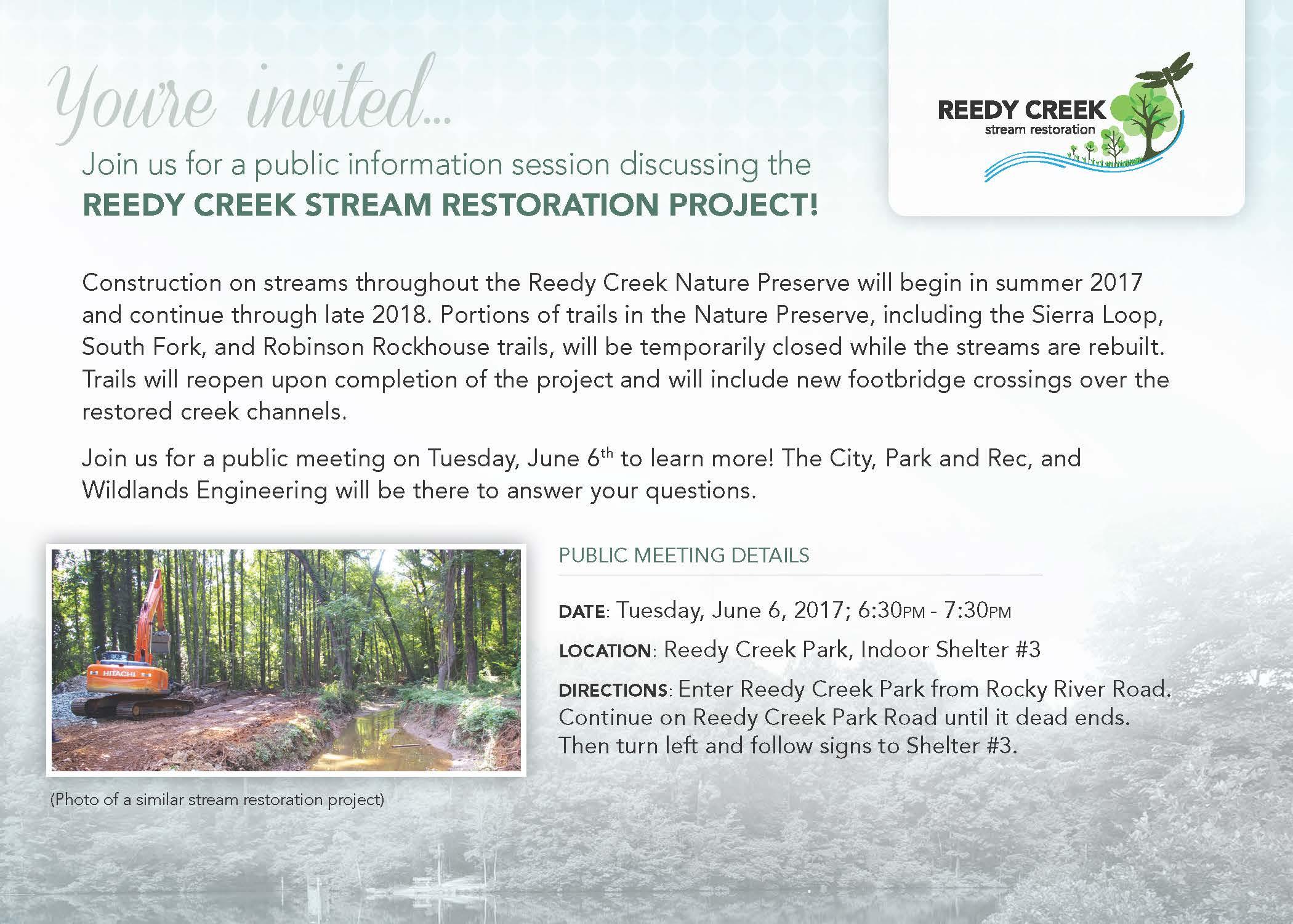 Reedy Creek stream restoration